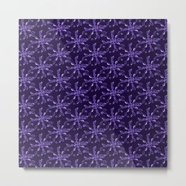 Rope Twist Sky (Purple): an energetic pattern to enrich your every day Metal Print