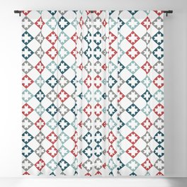 Modern Farmhouse Quilt Pattern Vintage Inspired NorthStar and Diamond Harlequin Print Blackout Curtain