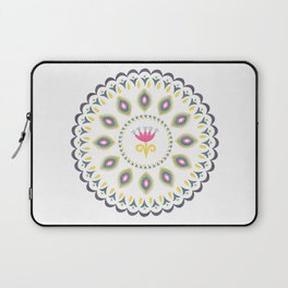 Suzani inspired floral blue 4 Laptop Sleeve