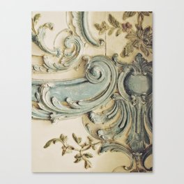 Blue Lace of Versailles Canvas Print