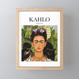 Kahlo - Self-portrait Framed Mini Art Print