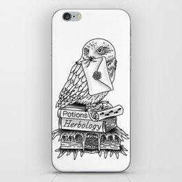 Hedwig On Books iPhone Skin