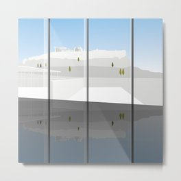 A Day at the Acropolis Museum of Athens Greece Metal Print