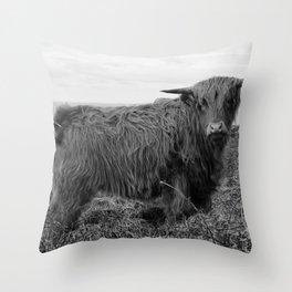 Highland cow II Throw Pillow