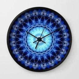 Mandala Iceblue 2 Wall Clock