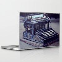 typewriter Laptop & iPad Skins featuring Typewriter by Kerri Ann Crau