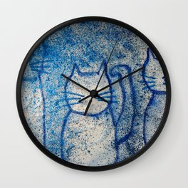 Cosmic cats Wall Clock