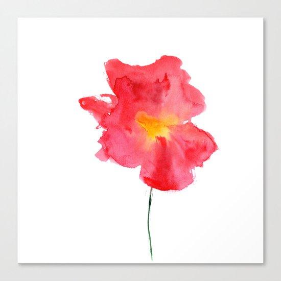 Dream big    watercolor flower Canvas Print
