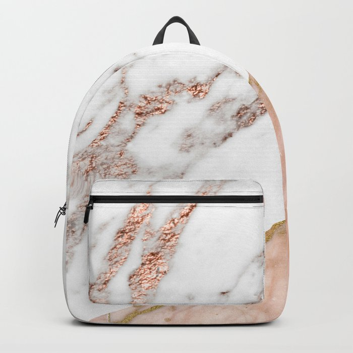 Marble rose gold blended Backpack