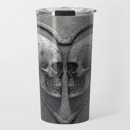 Gothic Skull Heart Travel Mug
