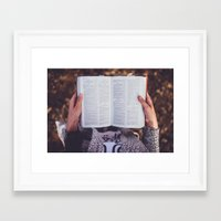 bible Framed Art Prints featuring Bible by Johnny Frazer