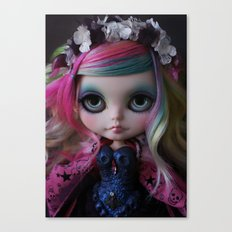 Sweet Death Shinigami (Ooak BLYTHE Doll) Canvas Print