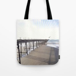 Victorian Pier - sunset graphic Tote Bag
