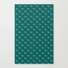 Dogs-Teal Canvas Print