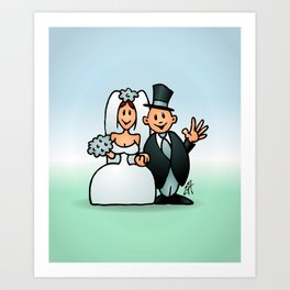 Wonderfull wedding Art Print