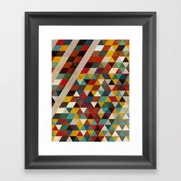 Geometric Flavors Framed Art Print