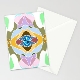 Intricate and detailed mandala with many colors Stationery Cards