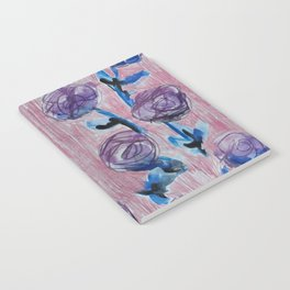 Rose Petals Series Paintings Notebook