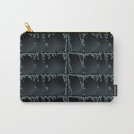 Black Beauty- Black and Grey Raindrop Abstract Pattern Carry-All Pouch