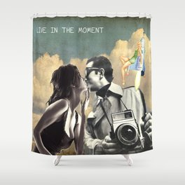 Live in the Moment Shower Curtain