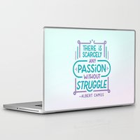 camus Laptop & iPad Skins featuring Camus on Passion by Josh LaFayette