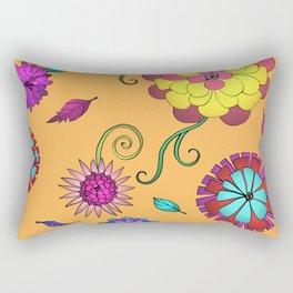 Crazy Daisy vitamin C pattern Rectangular Pillow