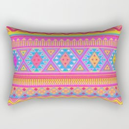 Aztec Pattern Pink and Light bLUE cOLORS Rectangular Pillow