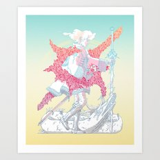 Fourth Grade Fantasy (proliferated) Art Print