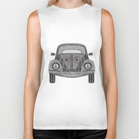 volkswagon Biker Tanks featuring Tangled VW Bug by Cherry Creative Designs