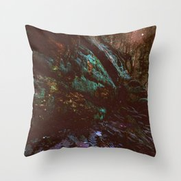 Forest Wall Dark Fairy Landscape Throw Pillow