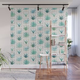 Mid Century Succulents Wall Mural