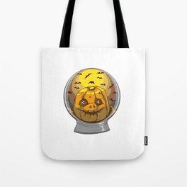 Snow Globe Creepy Pumpkin Halloween Gift Tote Bag