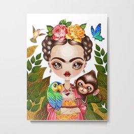 Frida Querida Metal Print