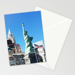 New York New York hotel in Las vegas Stationery Cards