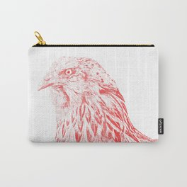 she's a beauty drawing, red Carry-All Pouch