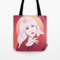 2ne1 Tote Bags featuring HELLO BTCHZ by Das The Creator