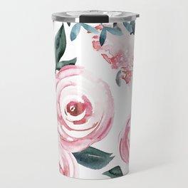 Watercolor Rose Travel Mug