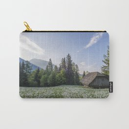 Spring by the Cottage in the Mountains Carry-All Pouch