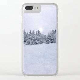 Tree Line Clear iPhone Case