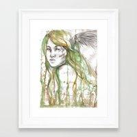 fairies Framed Art Prints featuring Fairies by Alex Schol