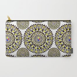 Football Themed Mandala Textile Carry-All Pouch