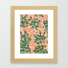 LEVEL UP LYRICS & PALM TREE ORANGE Framed Art Print