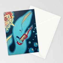 Keytar Whale Stationery Cards