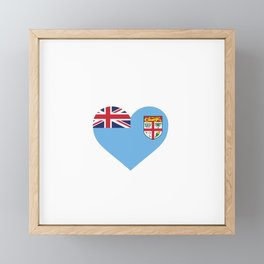 Fiji  love flag heart designs  Framed Mini Art Print