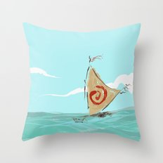 princess waikiki's boat Throw Pillow