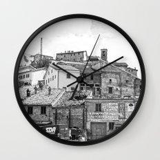 Italian mountain village Wall Clock