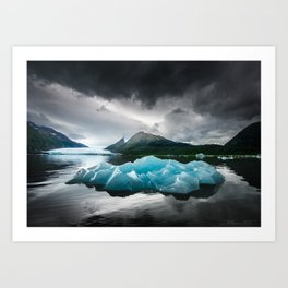 Iceberg at Spencer Lake Art Print