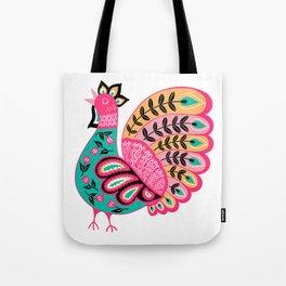 Folk Art Rooster Tote Bag