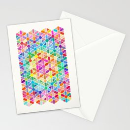 Rainbow Honeycomb with Stars Stationery Cards