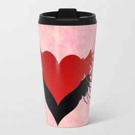 Couple of winged hearts Travel Mug